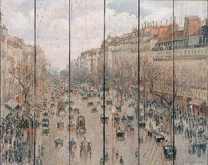 Писсарро Камиль. Бульвар Монмартр в Париже