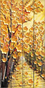 Аллея из желтых деревьев
