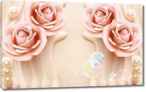 Розы с мыльными пузырями