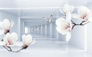 Орхидеи на фоне тоннеля