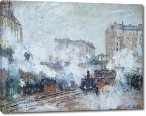 Моне Клод. Вокзал сен-Лазар, Прибытие поезда, 1877