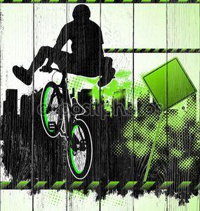 BMX велосипедистов шаблон вектор