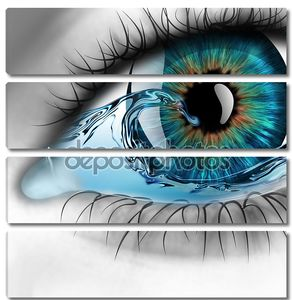 Глаз с водой