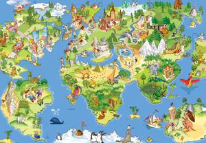 Детская иллюстрированная карта