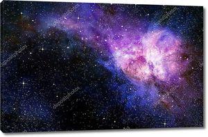 Глубокий космос фон со звездами и Туманность