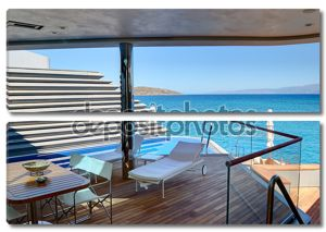 зона отдыха на свежем воздухе праздник вилла в роскошном отеле, Крит,