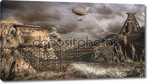 Дирижабли над старой шахты