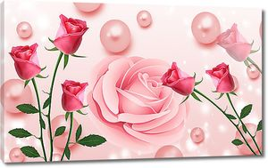 Розы и розовый жемчуг