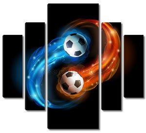 Футбольный мяч в огне
