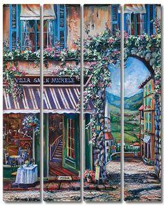 Яркий цветочный магазин в городе