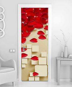 Лепестки красных роз с кубиками