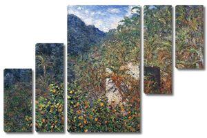 Моне Клод. Долина Сассо, синий эффект, 1884