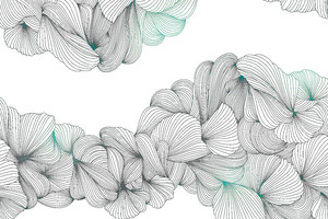 Lusso-переплетение серо-зеленых линий на белом