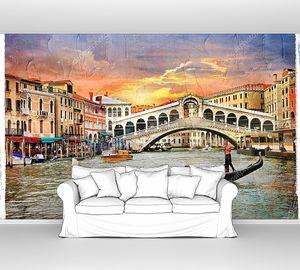 Венецианский закат над мостом Риальто