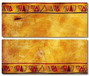 Винтажный фон и рамка с африканским орнаментом