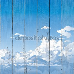 Рисунок неба с облаками