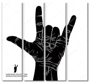 рок с стороны знак, рок-н-ролл, хард-рок, хэви-метал, музыка, d