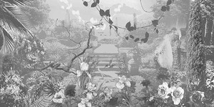 Черно-белый парк