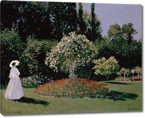 Клод Моне. Женщина в саду. Сент-Адресс