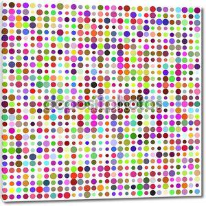 Ретро круг разноцветные абстрактный узор