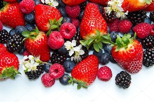 Berries on white Background