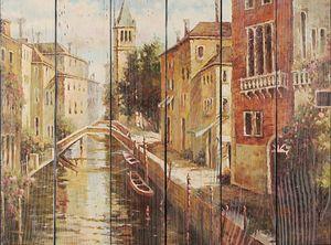 Фреска с каналами в Венеции