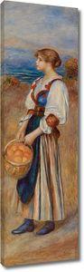 Пьер Огюст Ренуар. Девушка с корзиной апельсинов