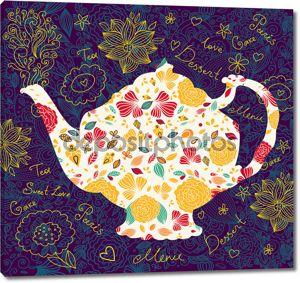 Шаблон с чайник