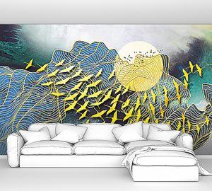 Журавлиная абстрактная стая