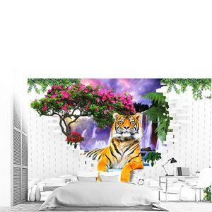 Тигр из стены