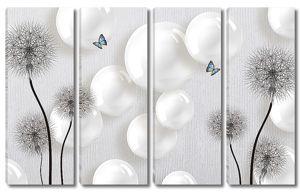 Одуванчики с перламутровыми шарами