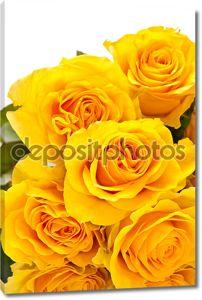 Желтые розы букет с крупными бутонами