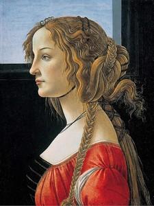 Боттичелли. Портрет молодой женщины