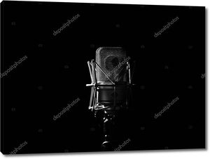 Студия музыки микрофон близко в студии звукозаписи