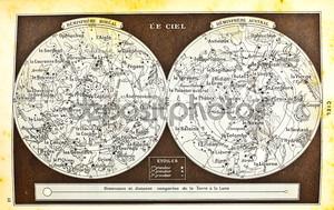 Старая карта звездного неба