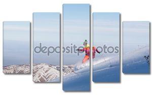 Горные лыжи и сноуборд в стиле хиппи - голый