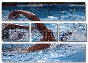 Пловцы в бассейне