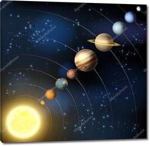 Солнечной системы из космоса
