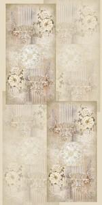 Коллаж с цветами и колоннами