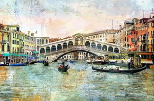 Фреска с живописной Венецией