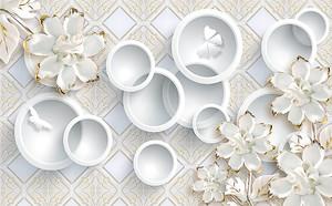 Белые цветы и кольца