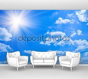 Красота голубое небо облака