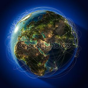 крупных глобальных авиационных маршрутов по всему миру