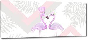 Фламинго в цилиндре