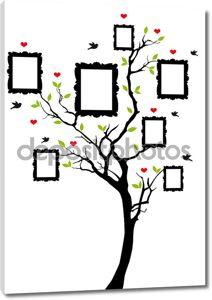 семейное дерево с фреймами, вектор