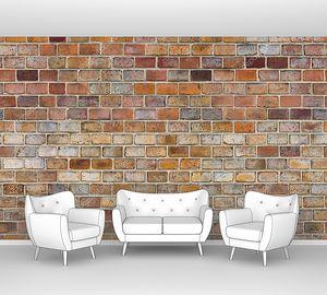 Пестрая текстура кирпичной стены