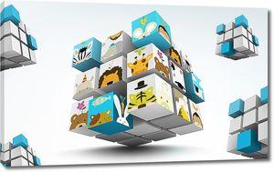 Кубик рубик с животными