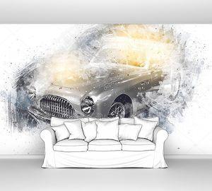 ретро-винтажный рисунок классического автомобиля