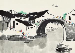Рисунок городского канала