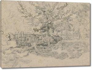 Ван Гог. Деревья в саду приюта